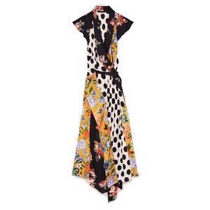Floral and Polka Dot Patchwork Dress
